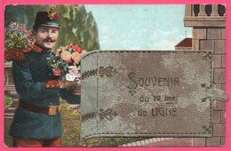 Cp Système - 4 Vues - Leporello - Envoyé De Auxonne - Militaire - Souvenir De La 10 ème Ligne - Livre - 1912 - Auxonne
