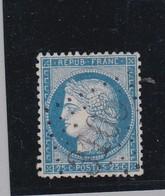 GC 3105 ( Guérard Bureau Ouvert 11 / 1874 )  Dept 73  S / N° 60 Remplaçant Alsace Lorraine Ex Bureau De Remilly Dept 55 - Marcophilie (Timbres Détachés)