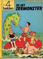 De 4 Helden En Het Zeemonster (1ste Druk) 1968 - De 4 Helden