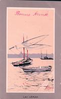 Pellegrini, Barques Du Léman Devant Genève Litho (7510) Pli D'angle - Illustratori & Fotografie