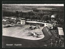 AK Hannover, Flughafen Aus Der Vogelschau - Aviazione