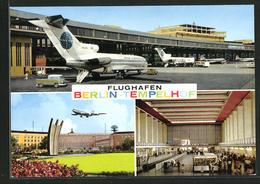 AK Berlin-Tempelhof, Flughafen, Versch. Ansichten - Aviazione