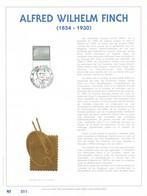 Exemplaire 001 Feuillet Tirage Limité 500 Exemplaires Frappe Or Fin 23 Carats 2417 Peintre Peinture Finch - Feuillets