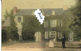 CPA INGRANDES INDRE ET LOIRE 37 MAGNIFIQUE Carte Toilée Chateau De Minièeres - France