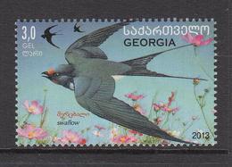 2013 Georgia Birds Oiseaux Swallow Complete Set Of 1 MNH - Georgia