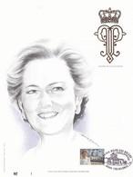 Exemplaire 1 Feuillet Tirage Limité 500 Exemplaires Frappe Or Fin 23 Carats 2706 Reine Paola Charleroi - Feuillets