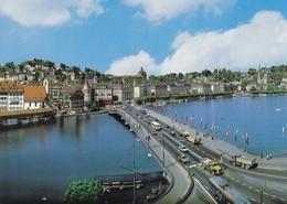 **  Luzern, Panorama, Altstadt - Seebrücke Und Hofkirche - LU Lucerne
