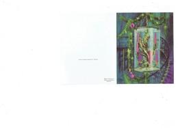 Double Carte Mignonnette Illustration - Femme Sirène Aquarium Escaliers - Meilleurs Vœux - F ESTACHY - Nouvel An