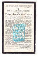 DP Pieter Leopold Jonckheere / Coene ° Sijsele 1834 † Brugge 1905 X S. Dobbelaere - Devotion Images