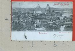 CARTOLINA VG ITALIA - Saluti Da ROMA - Panorama - Ed. Alterocca - 9 X 14 - 1907 - Viste Panoramiche, Panorama