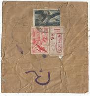 PA 100FR+50FR ETIQUETTE REC BPM 405 1949 ETAT MOYEN  MAIS RARE - Poststempel (Briefe)