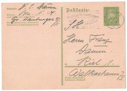 """IZ441  DR 1937 6 Pf. Friedrich Ebert - Stempel Berlin """"Weihnachtssendungen Rechtzeitig Aufgeben"""" Auf Postkarte - Alemania"""