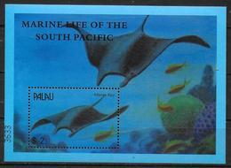 PALAU BF 112 * * ( Cote 8e ) Poissons Raie Manta - Fishes