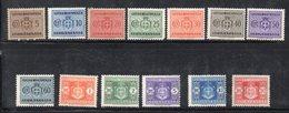 Q214 - LUOGOTENENZA 1945 , Serie N. 73/85  *  Linguella  (M2200). SEGNATASSE - Segnatasse