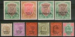 PATIALA: N°21/23+35+38+39+54+69 Et Service N°36+51 *      - Cote 84,60€ - - Groot-Brittannië (oude Kolonies En Protectoraten)