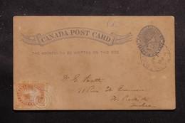 CANADA - Entier Postal Commercial Type Victoria + Complément De St Roch De Quebec En Local En 1889  - L 54322 - Briefe U. Dokumente