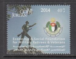 2014 Jordan Military Veterans  Complete Set Of 1 MNH - Jordan