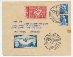 Cover / Postmark / Label France 1947 Bat - Ader - Brisees - Vliegtuigen