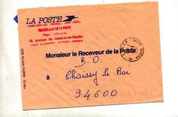 Lettre Franchise  Cachet Maisons Alfort D S C F P - Postmark Collection (Covers)