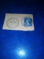 Cachet Pointillé Sur Fragment LANVELLEC Cotes Du Nord 1924 - Storia Postale (Francobolli Sciolti)
