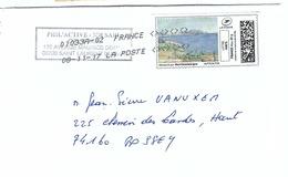 FRANCE 2017:  LSC Avec 'Mon Timbre En Ligne' Pour Lettre Verte - 2010-... Illustrated Franking Labels