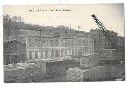 BREST (29) Quai De La Douane Grue Train - Brest