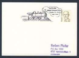 USA 1988 Card Karte Carte - Holyoke Centennial Station - 1888-1988 / Railway Station / Bahnhof / Gare - Treinen