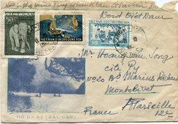 VIET-NAM LETTRE DEPART NINH-BINH 11-10-57 VIETNAM POUR LA FRANCE - Vietnam