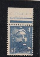 FRANCE - Variété N 719B Gandon Visage Obstrué** - Curiosities: 1945-49 Mint/hinged