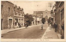 35. SAINT LUNAIRE.  RUE DE L EGLISE LE TABAC - Saint-Lunaire