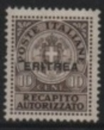 Eritrea (Italian-Italienne) 1941 Italian Stamps-Timbres Italie (Charges-Service) Overprinted/Surchargés ERITREA * - Eritrea