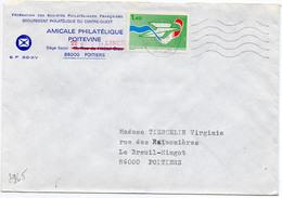 France N° 2165 Y. Et T. Vienne Poitiers Libération Flamme Ondulée Du 22/09/1981 Sur Lettre - Marcophilie (Lettres)