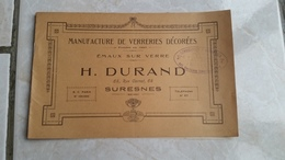 Catalogue Manufacture De Verreries Décorées H.Durand  Suresnes Fondée En 1885 - 1901-1940