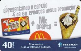 TARJETA DE BRASIL DE McDONALDS DE UN HELADO (TELEMAR) - Brazilië