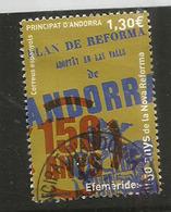 Conseil De La Terre. (150 Anys De La Nova Reforma), Un Timbre Oblitéré, 1 ère Qualité, 2016 . Haute Faciale - Andorre Espagnol