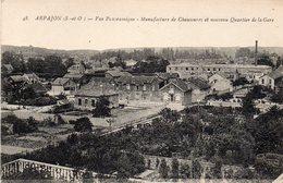 ARPAJON - Vue Panoramique - Manufacture De Chaussures Et Nouveau Quartier De La Gare - Arpajon