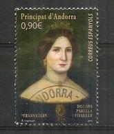 Dolors Parrella Fivaller De Plandolit, Baronne De Senaller, Assassinée Par Le Colonel Blas De Durana (1855) Oblitéré - Andorre Espagnol