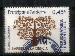 L'Arbre De La Science:Raymond Lull. Philosophe, Poète, Théologien, Missionnaire. 700 Ans Disparition. Un Timbre Oblitéré - Andorre Espagnol