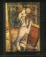Animaux Dans L'Art. Le Chien De Saint Christophe D'Anyos, Un Timbre Nouveau Oblitéré, 1 ère Qualité, (haute Faciale) - Andorre Espagnol