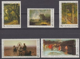 Russia, USSR 11.06.1986 Mi # 5615-19 Russian Artists' Paintings From TheState Tretyakov Gallery MNH OG - Nuevos