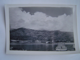PHOTOGRAPHIE Ancienne : HYDRAVION / PAPEETE / TAHITI / OCEANIE / FRANCE 1950 - Lieux