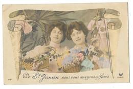 SAINT JUNIEN (87) Carte Fantaisie Souvenir - Saint Junien