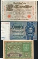 LOT DE 5 BILLETS D'ALLEMAGNE - Monnaies & Billets