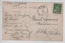 CBPN153/ TP 110 S/CP Biplan Caudron > Armée Chinoise C.Gent Tentoonstelling - Exposition 26/5/1913  > Ethe (Virton) - 1912 Pellens