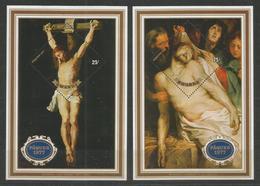 2 Pcs RWANDA - MNH - Art - Painting - Easter 1977 - Religión