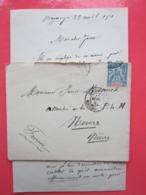 Timbre Sage 15 Madagascar Et Dépendances 1901 Sur Enveloppe Avec Courrier Pour NEVERS (58) Le 23/04/1901 Cachet Greffe - Storia Postale