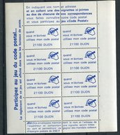 """Etiquettes   Feuille De 4 Exemplaires - """" Utilisez Mon Code Postal """" - Non Classés"""
