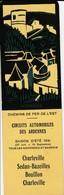 Marque-pages - Chemins De Fer De L'Est - Circuits Automobiles Des Ardennes - Marque-Pages