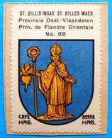 Oost Vlaanderen N066 Sint-Gillis-Waas Saint-Gilles-Waes Timbre Vignette 1930 Café Hag Armoiries Blason écu TBE - Tee & Kaffee