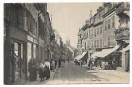 CPA TRES ANIMEE SARREBOURG, LA GRAND'RUE, MOSELLE 57 - Sarrebourg